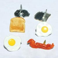 Breakfast - Eyelet Outlet Shape Brads 12/Pkg