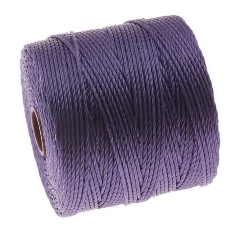 BeadSmith Super-Lon (S-Lon) Cord - Size 18 Twisted Nylon - Medium Purple / 77 Yard Spool