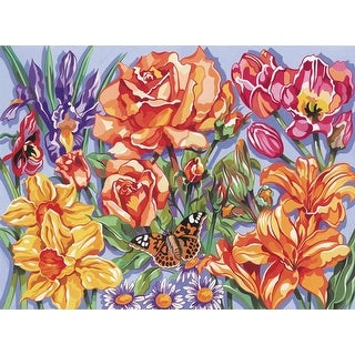 """Paint By Number Kit 12""""X15.5""""-Floral"""