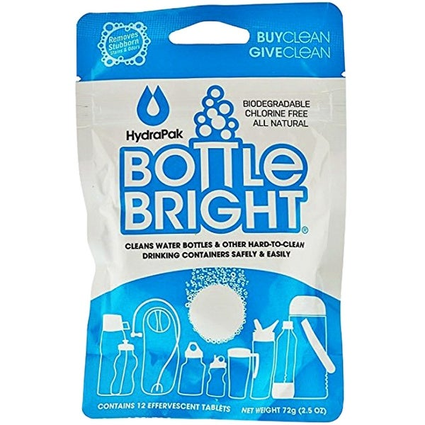 Bottle Bright Beverage Container and Drinking Vessel Cleaning Tablets