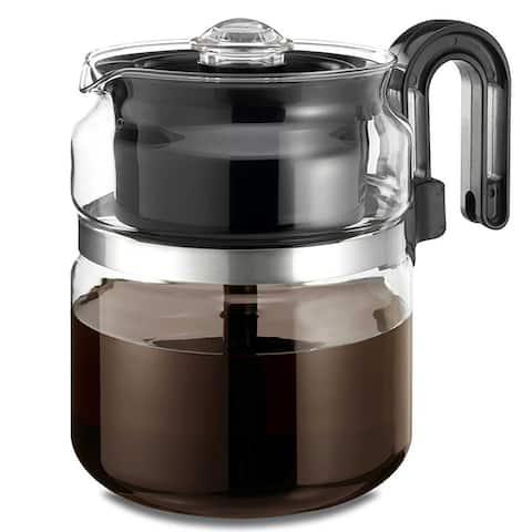 Medelco PK008 Glass Stovetop Perk Coffeemaker/Percolator, 8-Cup