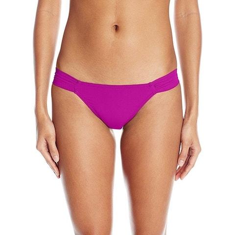 O'Neill Women's Salt Water Solids Tab Side Bikini Bottom, Raspberry/Rust,SZ M
