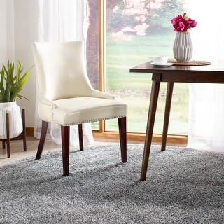 """Link to Safavieh Dining Becca Cream Leather Dining Chair - 22"""" x 24.8"""" x 36.4"""" Similar Items in Kitchen & Dining Room Chairs"""