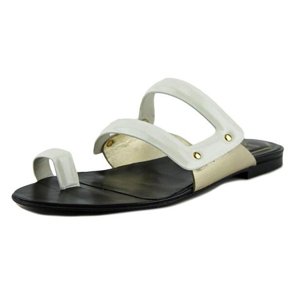 Roger Vivier Infradito T.05 Women Open Toe Leather White Slides Sandal