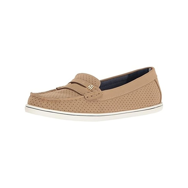 72785b34964b72 Shop Tommy Hilfiger Womens Butter5 Boat Shoes Perforated Close Toe ...