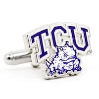 Silver Plated TCU Horned Frog Cufflinks