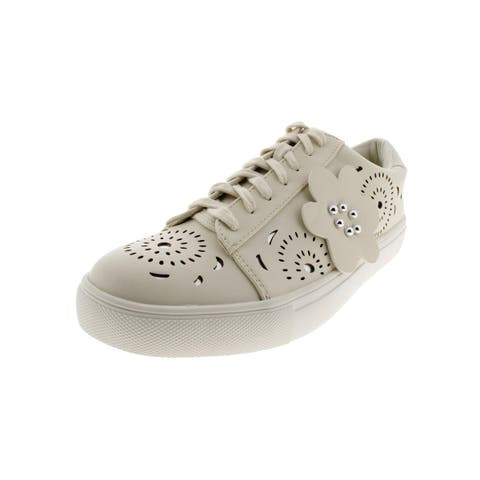 Nanette Lepore Womens Wesley Fashion Sneakers Cut-Out Faux Leather