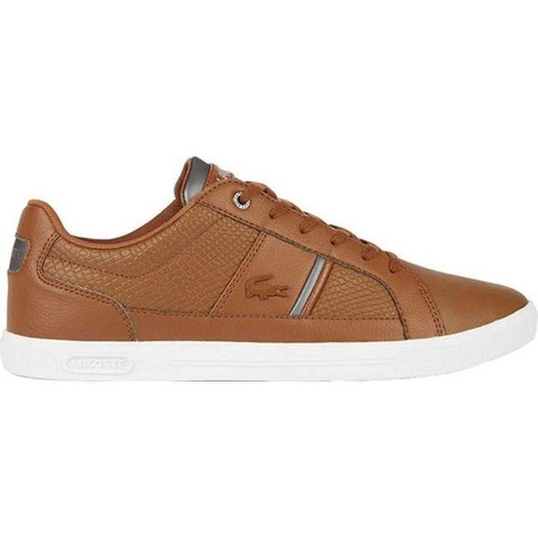 71041152b Shop Lacoste Men s Europa 1 Leather Sneaker Dark Brown Leather Synthetic -  Free Shipping Today - Overstock - 27348756