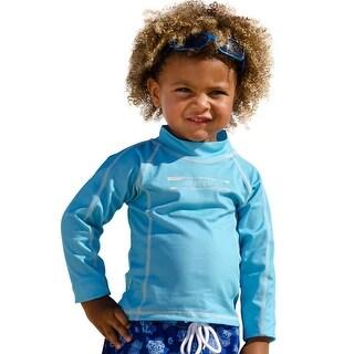 Sun Emporium Baby Boys Aqua Multi Panel Long Sleeve Rash Guard