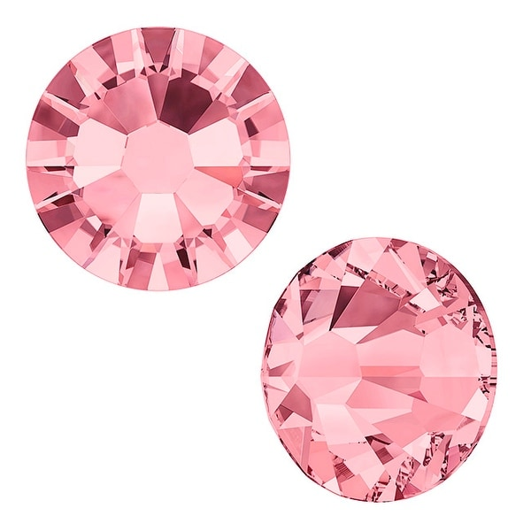 Swarovski elements Crystal, Round Flatback Rhinestone SS7 2.2mm, 72 Pieces, Blush Rose F