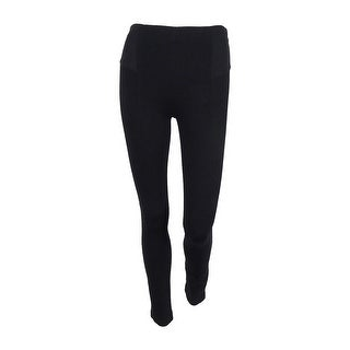INC International Concepts Women's  Ponte Skinny Leg Pants - Deep Black