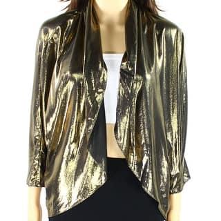 MSK NEW Metallic Gold Black Women's Size XL Draped Shrug Jacket https://ak1.ostkcdn.com/images/products/is/images/direct/5340ea132e5b6675cf234729bd7e39e5ff962aea/MSK-NEW-Metallic-Gold-Black-Women%27s-Size-XL-Draped-Shrug-Jacket.jpg?impolicy=medium