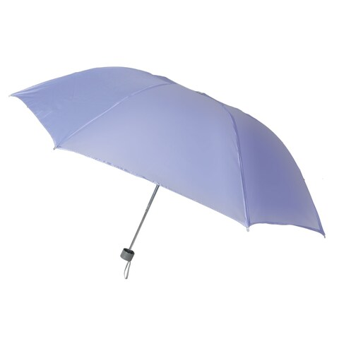 Unique Bargains Unique Bargains Light Purple Water Resistant Canopy Metal Shaft 3 Foldable Rain Umbrella