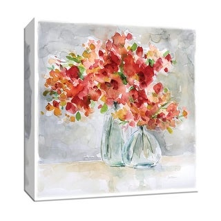 """PTM Images 9-147832  PTM Canvas Collection 12"""" x 12"""" - """"Red Arrangement"""" Giclee Flowers Art Print on Canvas"""