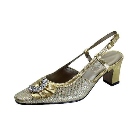 FLORAL Clea Women's Extra Wide Width Dress Slingback Metallic Shoes
