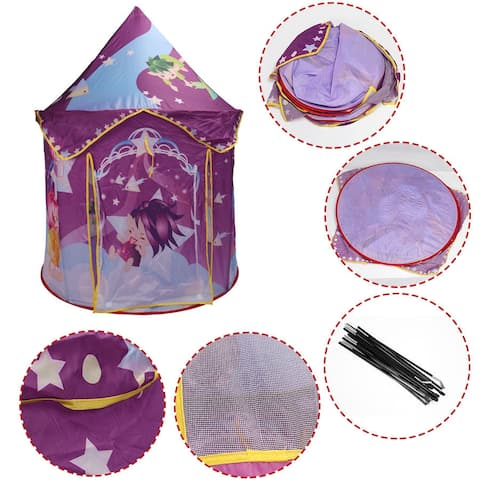 Costway Kids Baby Play Tent Princess Castle Playhouse In/Outdoor Portable Foldable Gift