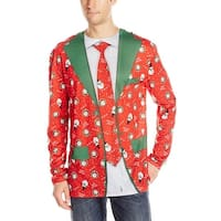 Ugly Christmas Sweater Suit Tie - Red
