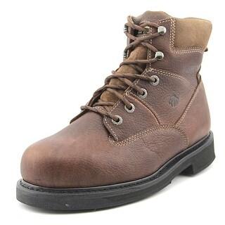 "Wolverine Tremor 8"" Men EW Steel Toe Leather Brown Work Boot"