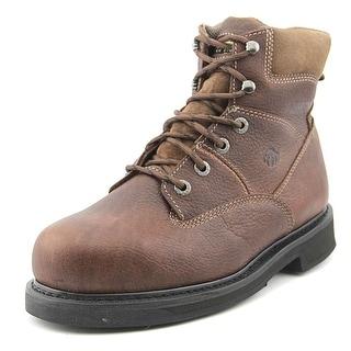 "Wolverine Tremor 8"" Men Steel Toe Leather Brown Work Boot"