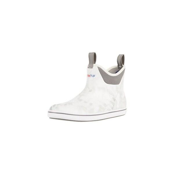 "Xtratuf Men's 6"" White Kryptek Ankle Deck Boots w/ Chevron Outsole - Size 9"