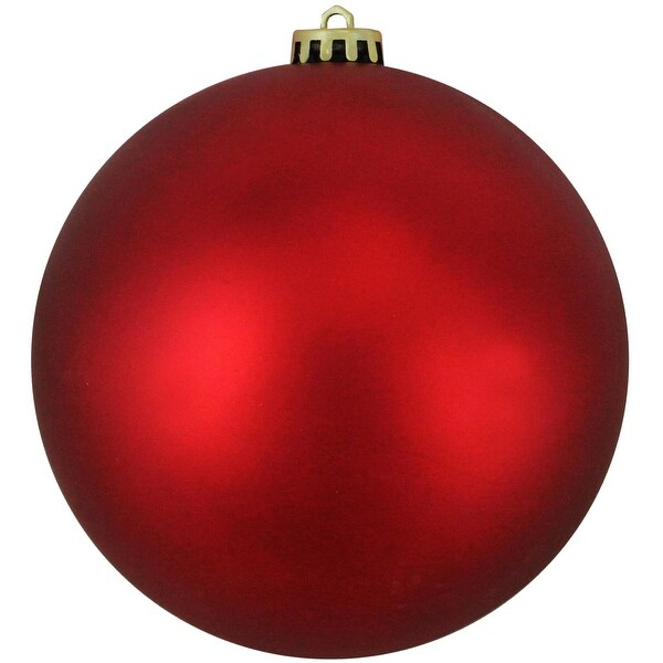"Shatterproof Matte Red Hot Commercial Christmas Ball Ornament 12"" (300mm)"