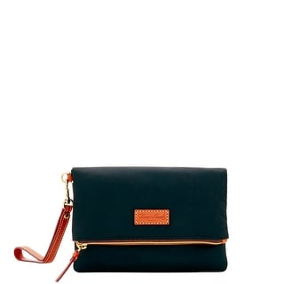 Dooney & Bourke Nylon Fold Over Zip Wristlet (Introduced by Dooney & Bourke at $98 in Jul 2016) - Black