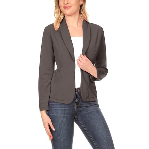 Women's Casual Solid Long Sleeve Blazer Jacket