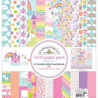 """Doodlebug Double-Sided Paper Pack 12""""X12""""-Fairy Tales"""
