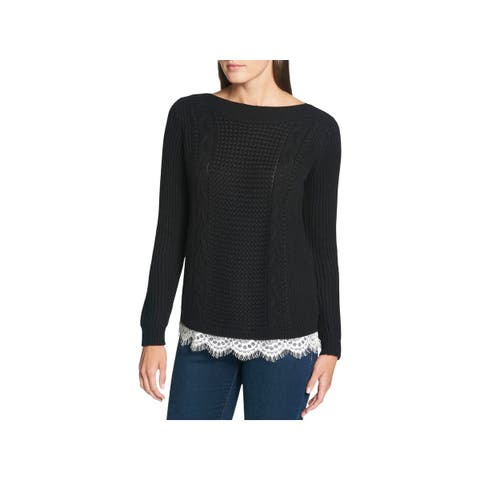 Tommy Hilfiger Womens Pullover Sweater Winter Knit
