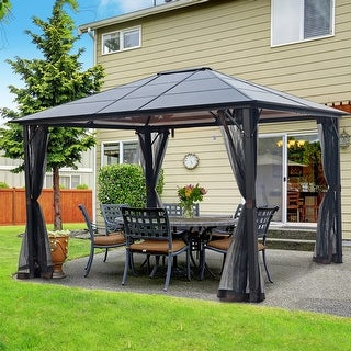 Laurel Canyon Aluminum Gazebo Outdoor Hardtop (12' x 10')