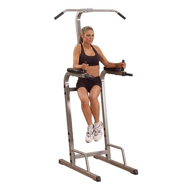 Best Fitness Vertical Knee Raise - Black