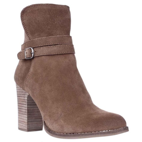 Lucky Brand Latonya Block Heel Ankle Boots, Honey