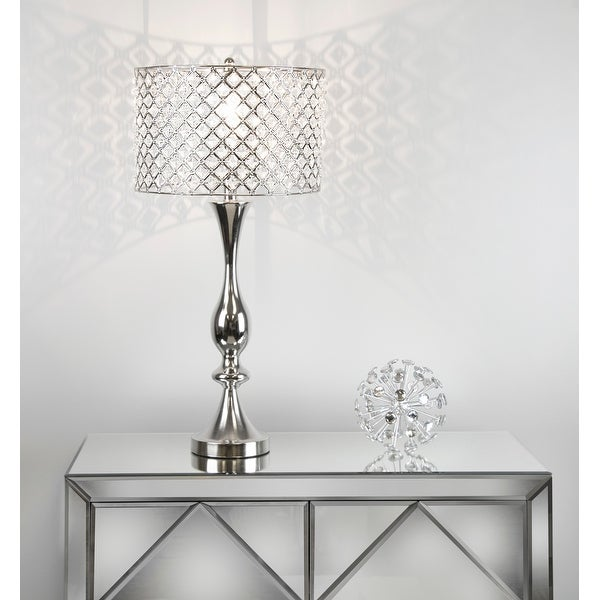 Silver Orchid Crystal Bling Shade 27.5-inch Table Lamp. Opens flyout.