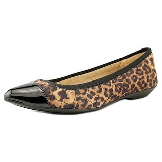 Anne Klein Sport Offered Pointed Toe Canvas Flats