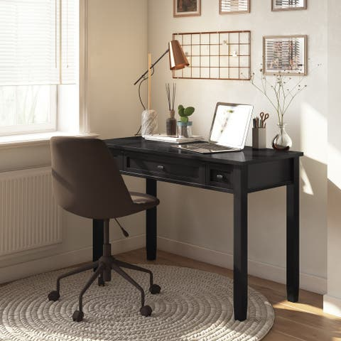 WYNDENHALL Norfolk SOLID WOOD Transitional 48 inch Wide Writing Office Desk