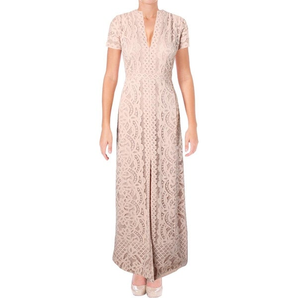 40ee26e86c40 Shop BCBG Max Azria Womens Cailean Formal Dress Knit Lace Overlay - 4 -  Free Shipping Today - Overstock - 19424196