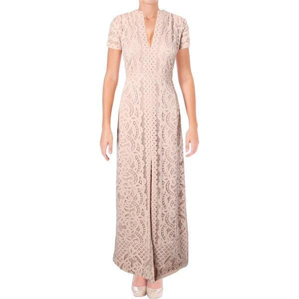 c95e59334186 BCBG Max Azria Womens Cailean Formal Dress Knit Lace Overlay - 4. Image  Gallery