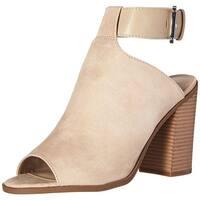 Indigo Rd. Womens Mashi Fabric Peep Toe Ankle Strap Mules