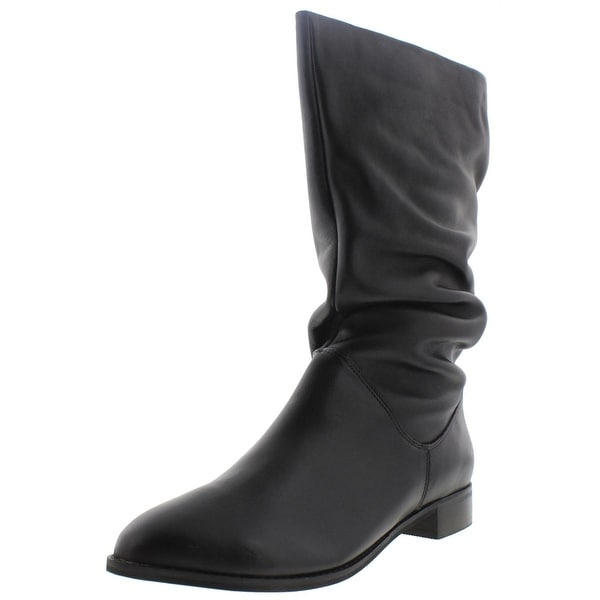 Dune London Womens Rosalind Mid-Calf Boots Leather Slouchy