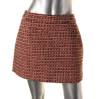 Victoria Beckham Womens Tweed Mini A-Line Skirt