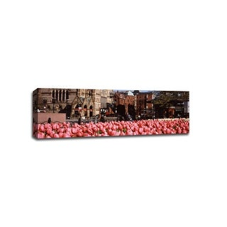 Tulipes Copley Square - Flowers - 36x12 Gallery Wrapped Canvas Wall Art