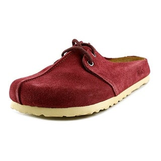 Birki's Sailor Women Round Toe Suede Red Clogs