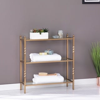 Link to Harper Blvd Randzo Transitional Gold Metal 3-Tier Shelf Similar Items in Bathroom Furniture