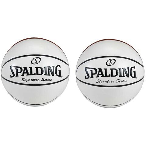 Spalding Signature Series Autograph Basketballs (2 Pack) Bundle