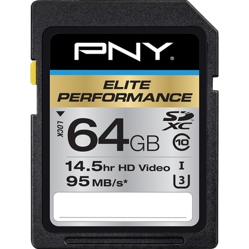 PNY Technologies P-SDX64U395-GE PNY Elite Performance 64 GB SDXC - Class 10/UHS-I (U3) - 95 MB/s Read