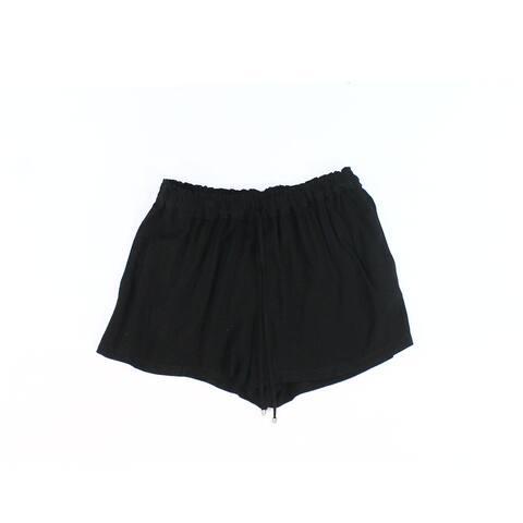 Splendid Solid Black Womens Size Medium M Drawstring Soft Shorts