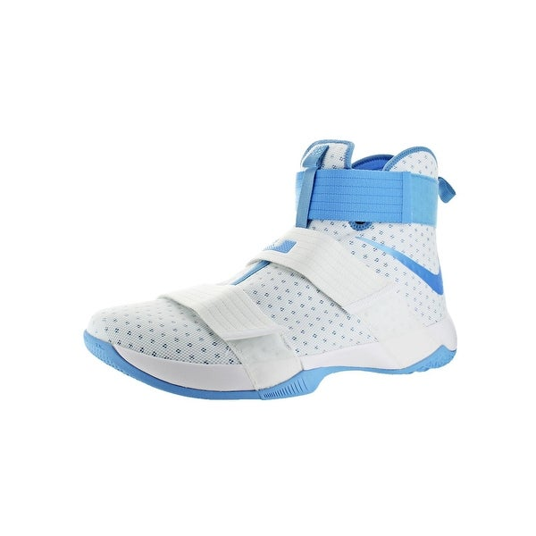 Nike LeBron Soldier 10 Men's Mesh High-Top Basketball Shoes White Size 18 - 18 medium (d)