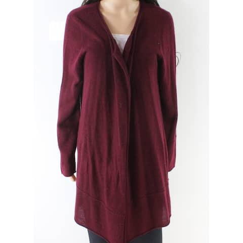 Magaschoni Red Women's Size Large L Cardigan Cashmere Sweater