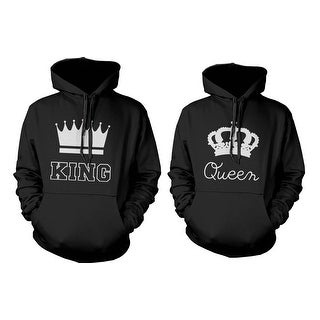 King And Queen Crown Couple Hoodies Cute Matching Outfit For Couples Free  Delivery By Valentineu0027s