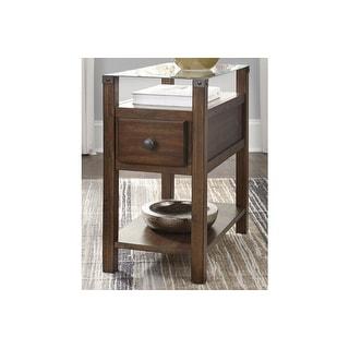 Ashley Furniture T217-533 Dark Brown Diamenton Chair Side End Table